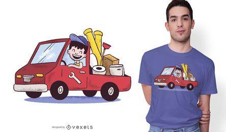 Design de t-shirt dos desenhos animados de encanador