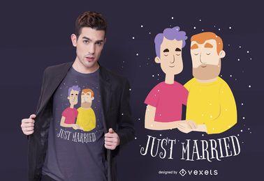 Design de camiseta recém-casado