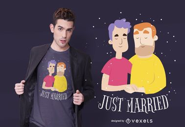 Just married t-shirt design