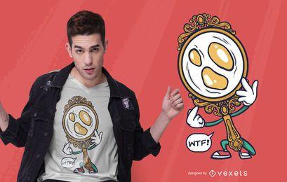 Diseño de camiseta Egg Mirror