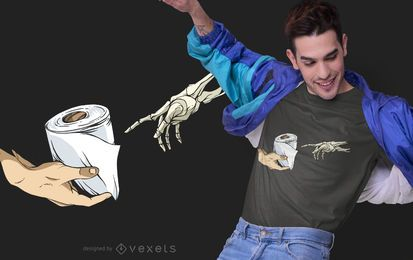 Creation of Adam Toilet Paper T-shirt Design