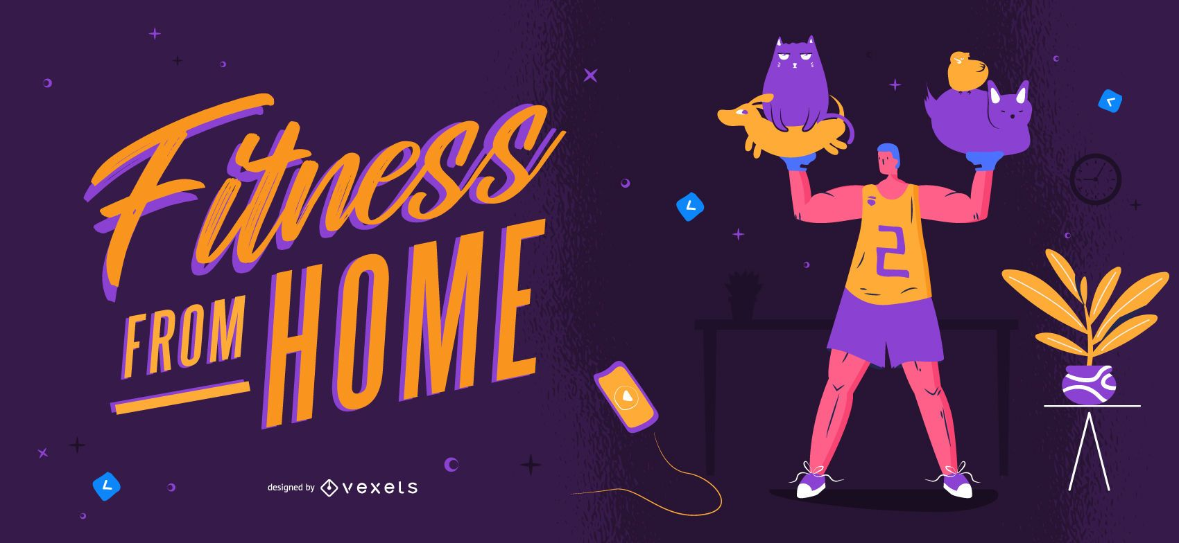 Fitness from home slider template