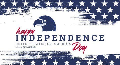 Schieberegler-Vorlage für den Unabhängigkeitstag