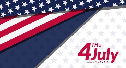 4th of July banner template