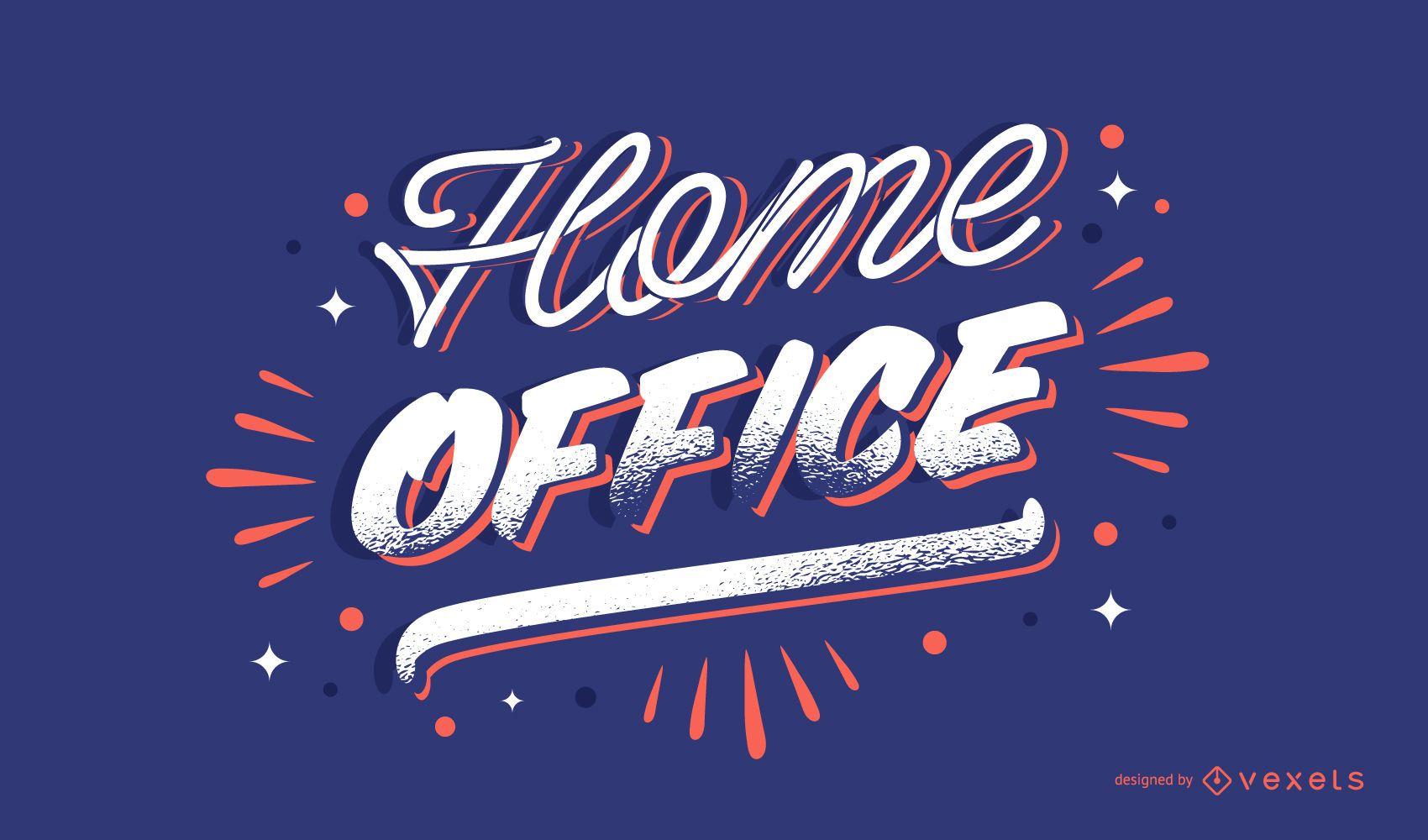 Diseño de letras de oficina en casa