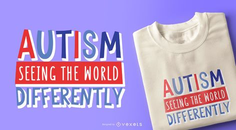 Autism Child Quote T-shirt Design
