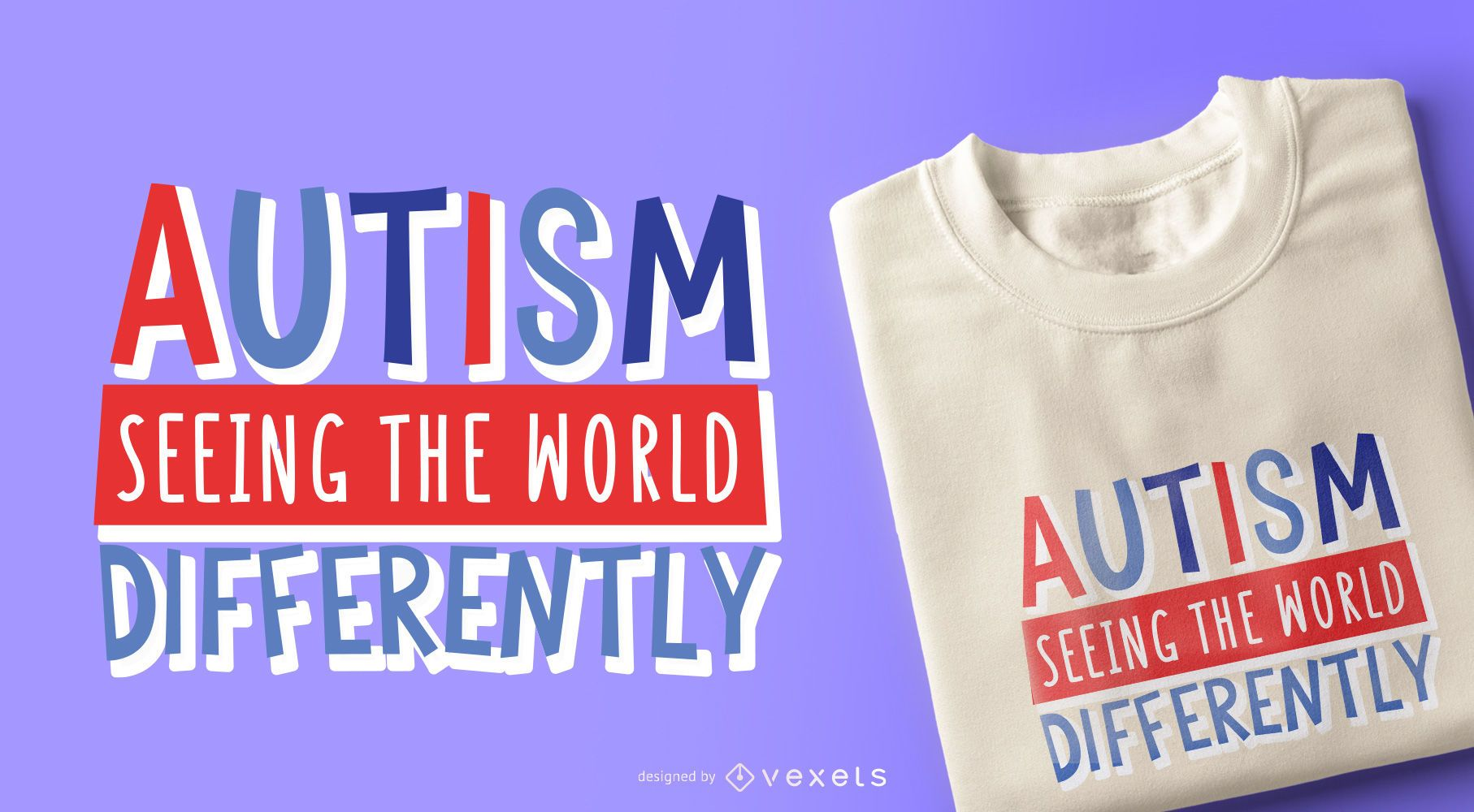 Diseño de camiseta de cita infantil autismo