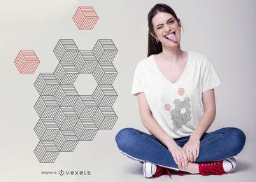 Projeto abstrato do t-shirt dos cubos
