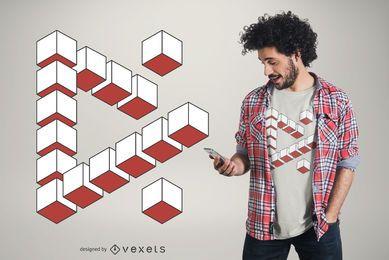 Diseño de camiseta de forma triangular abstracta