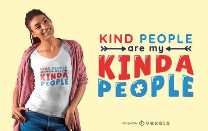 Pessoas amáveis Autismo texto t-shirt Design