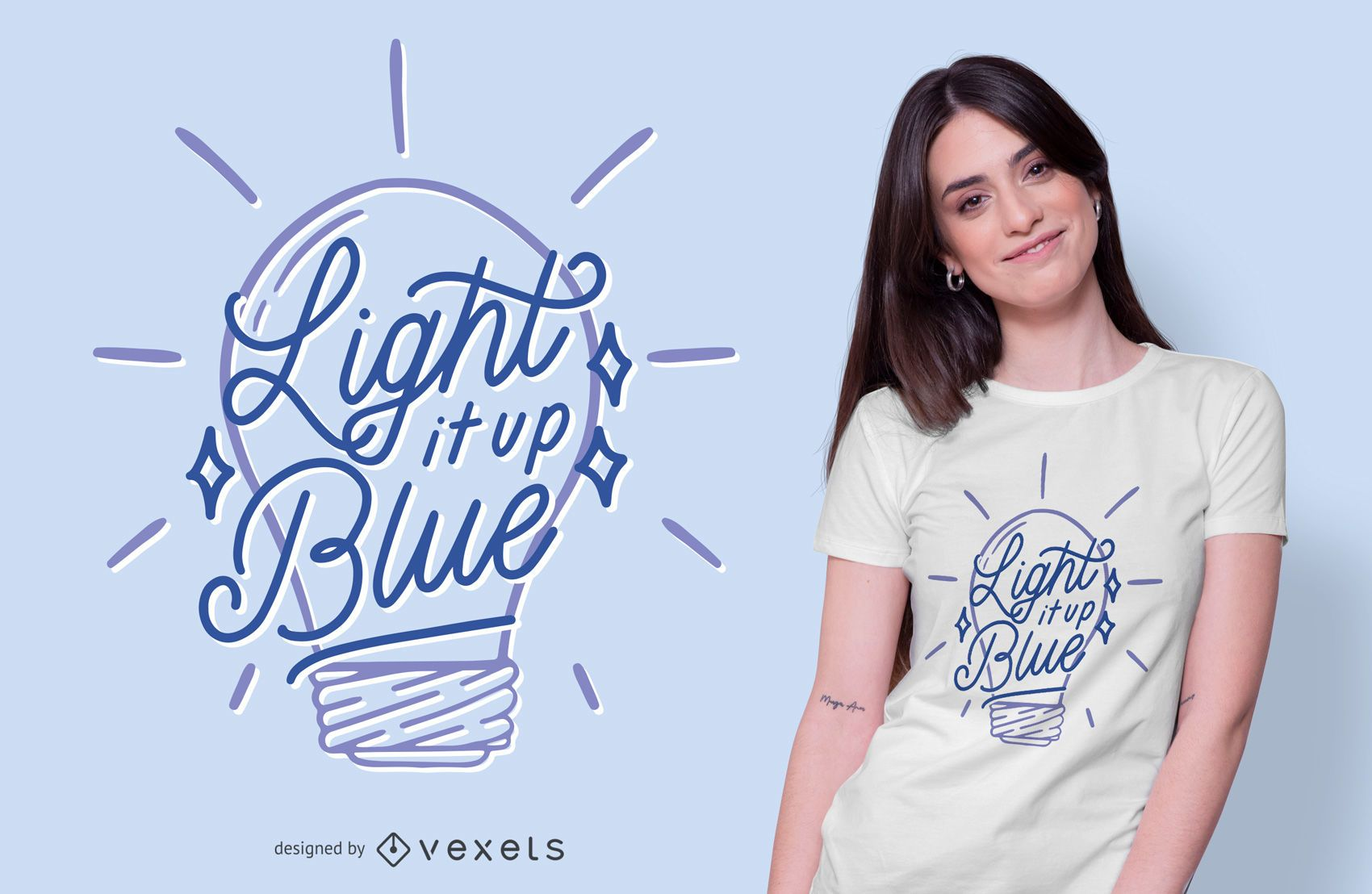 Light Bulb Autism Quote T-shirt Design