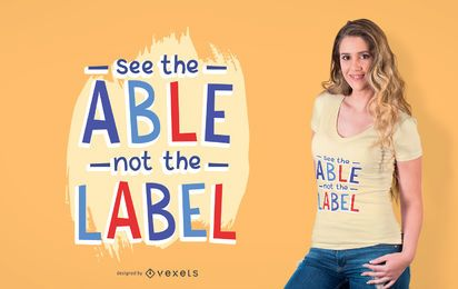 Diseño de camiseta de texto para niños