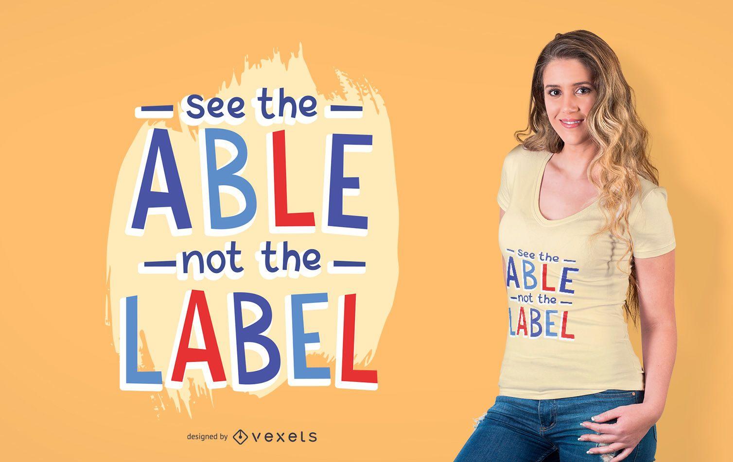 Diseño de camiseta de texto de apoyo para niños