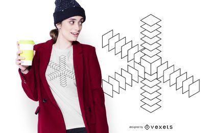 Diseño de camiseta de geometría abstracta