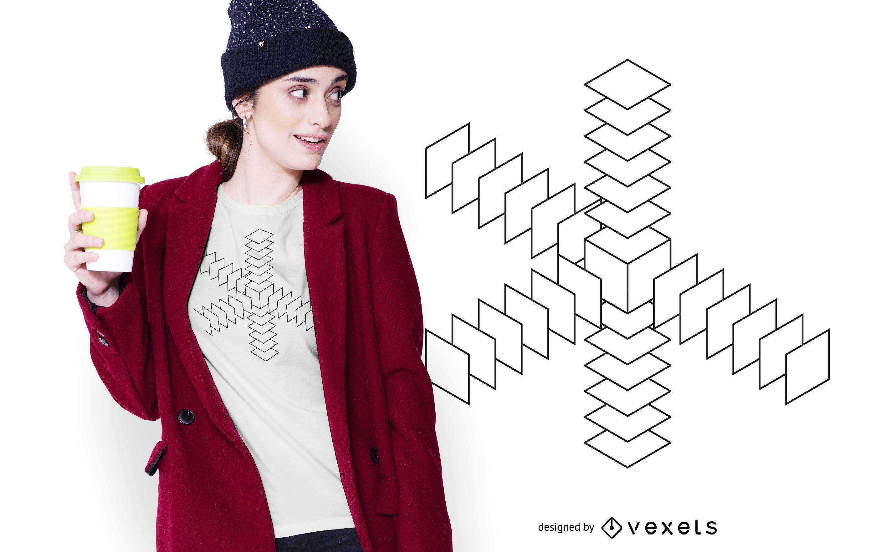 Geometry Abstract Shape T-shirt Design
