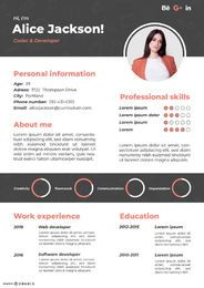 Coder Resume Template Design