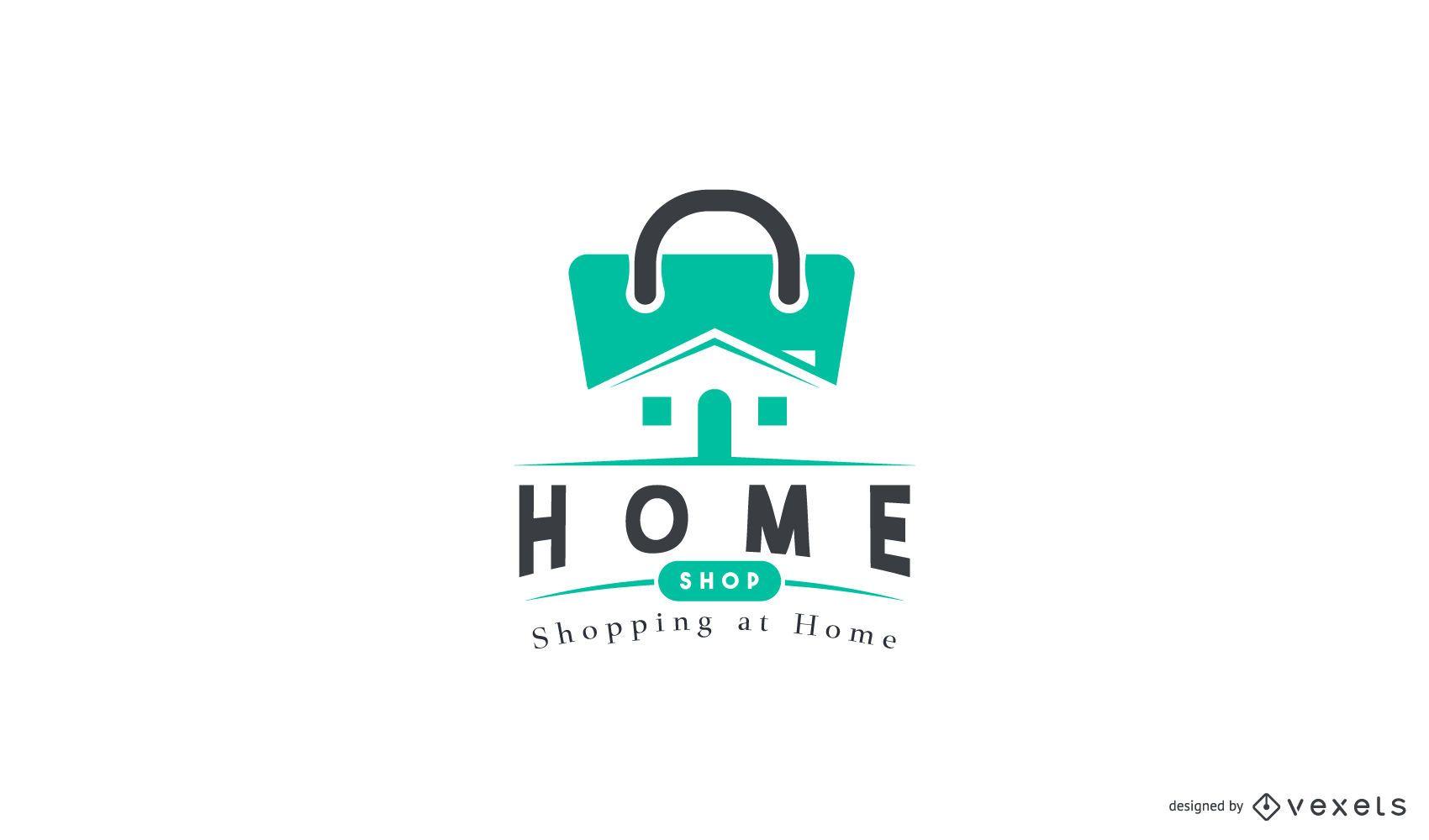 Design de logotipos de home shop