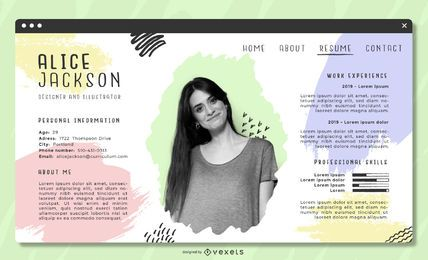 Pastel Artistic CV Template