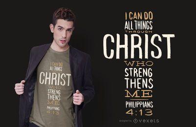 Design de camisetas com citações de Filipenses