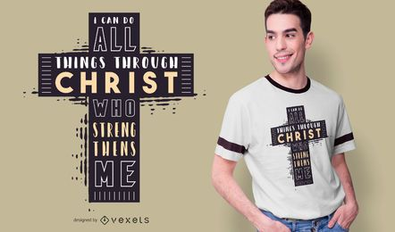 Bible Verse Cross Quote T-shirt Design