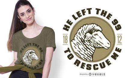 Design de camiseta com citações da Bíblia de Cordeiro