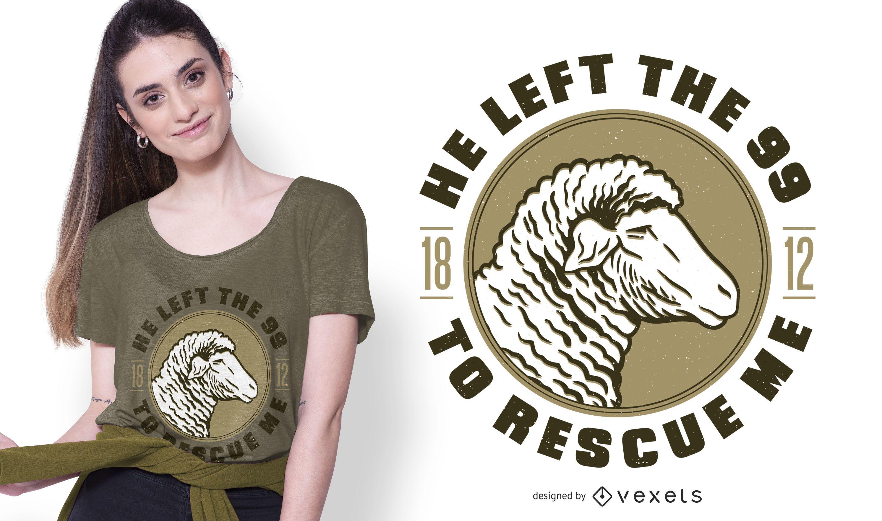 Diseño de camiseta Lamb Bible Quote