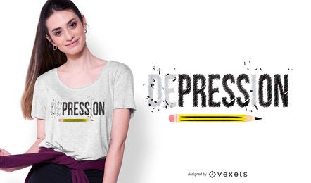 Presione en el diseño de la camiseta