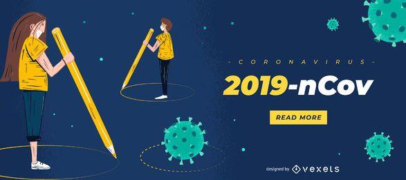 2019-ncov Coronavirus Slider-Vorlage