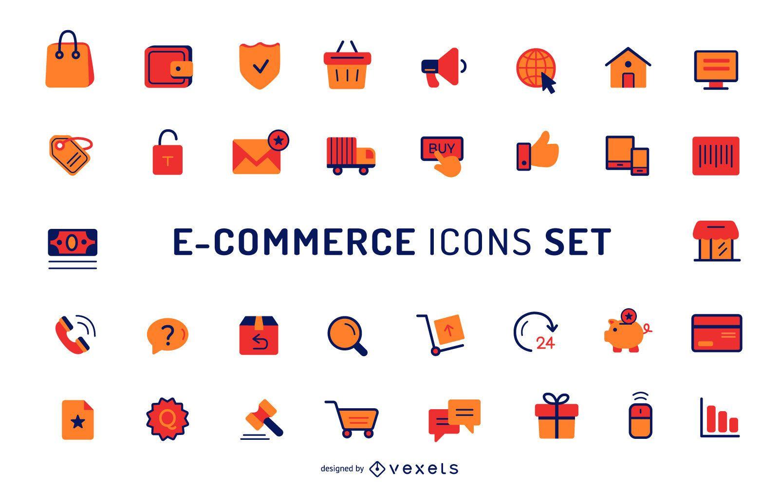 Colección de iconos de comercio electrónico