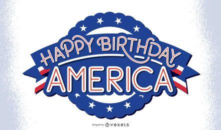 Alles Gute zum Geburtstag Amerika Schriftzug