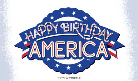 Happy birthday america lettering