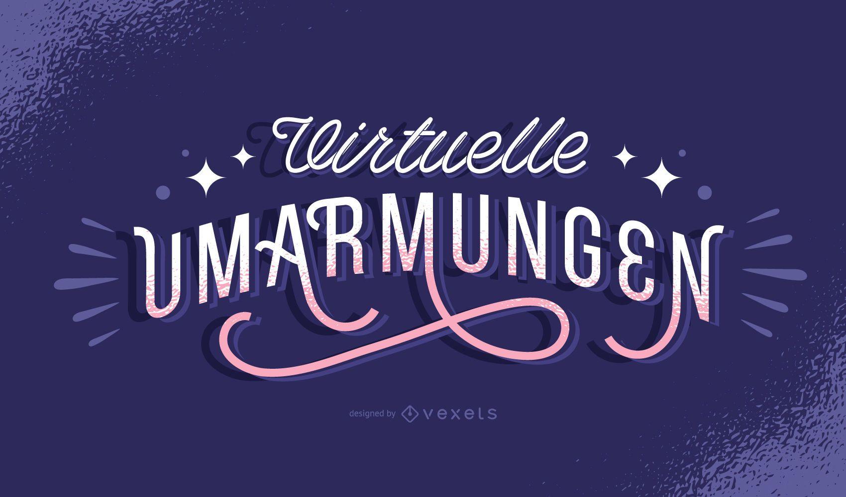 Abrazos virtuales letras alemanas