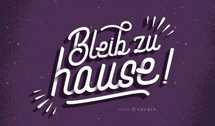 Ficar em casa letras alemãs