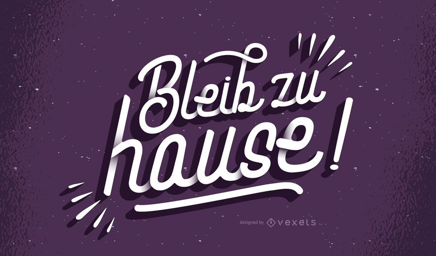 Stay home german lettering