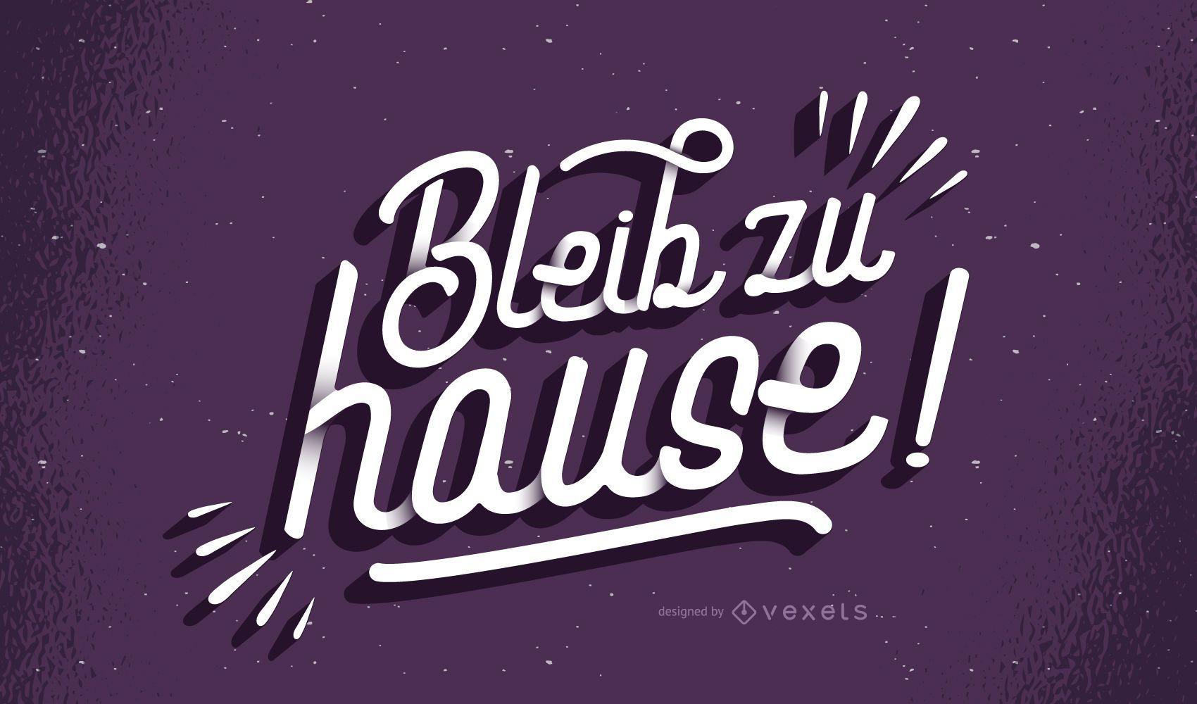 Quédate en casa letras alemanas