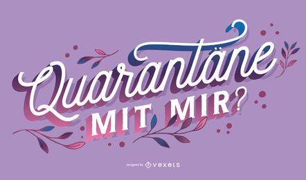 Diseño de letras alemanas de cuarentena