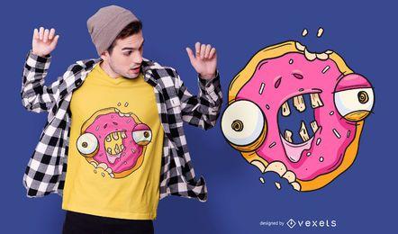 Diseño de camiseta Zombie Donut