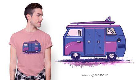 Diseño de camiseta color Camper Van