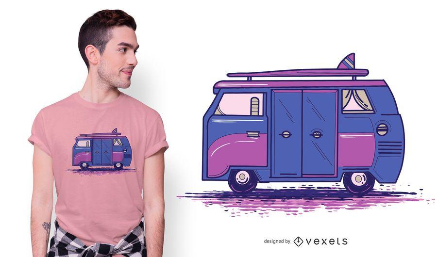 Colored Camper Van T-shirt Design
