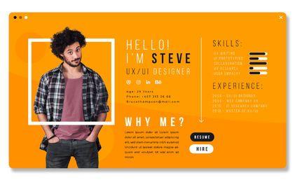 UX Designer CV Template Design