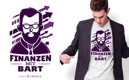 Diseño de camiseta de finanzas de barba