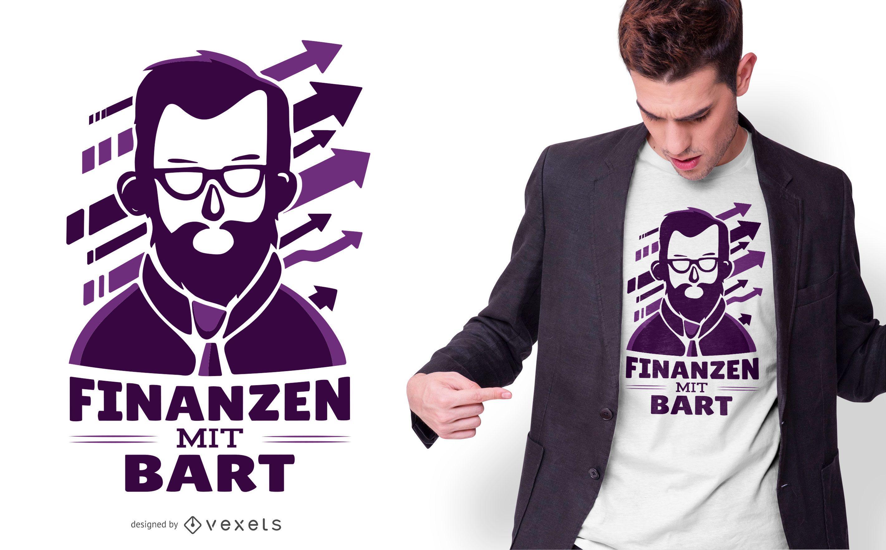 Beard finances t-shirt design