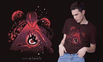 Diseño de camiseta de creador de universo.