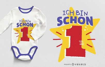 Diseño de camiseta de un año