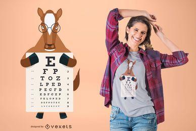 Diseño de camiseta de carta de ojo de caballo