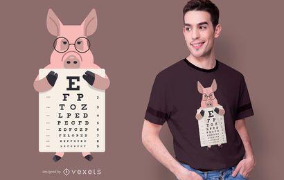 Diseño de camiseta con gráfico de ojo de cerdo