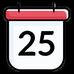 25 calendário plano