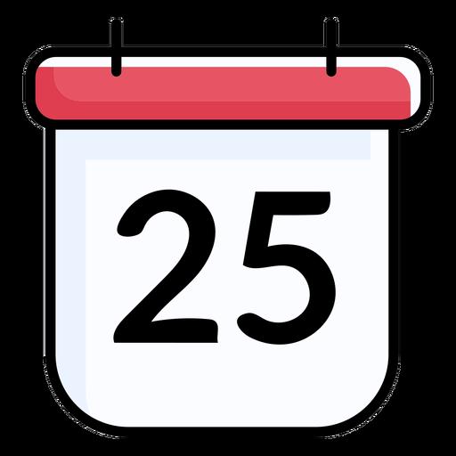 25 calendario plano