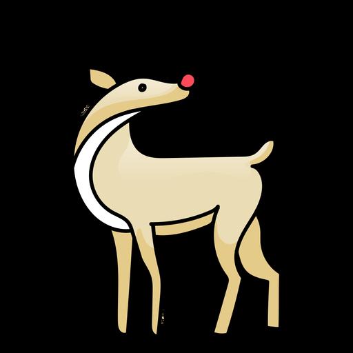 Antler deer flat