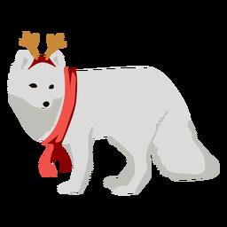 Raposa do ártico raposa polar plana xmas